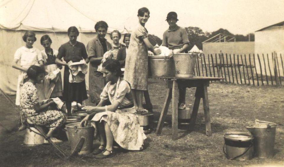 Washing up at North Stoneham Camp